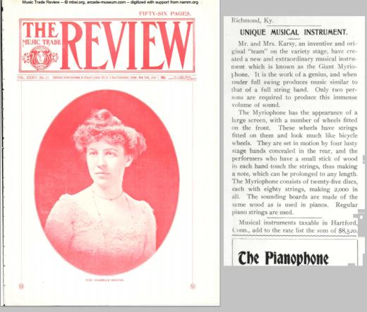 En la página 33 de esta revista del año 1902, podemos ver la pequeñísima reseña de este instrumento que es en la que me he basado para comentar. ¡Realidad o ficción que el matrimonio nos quería colar?