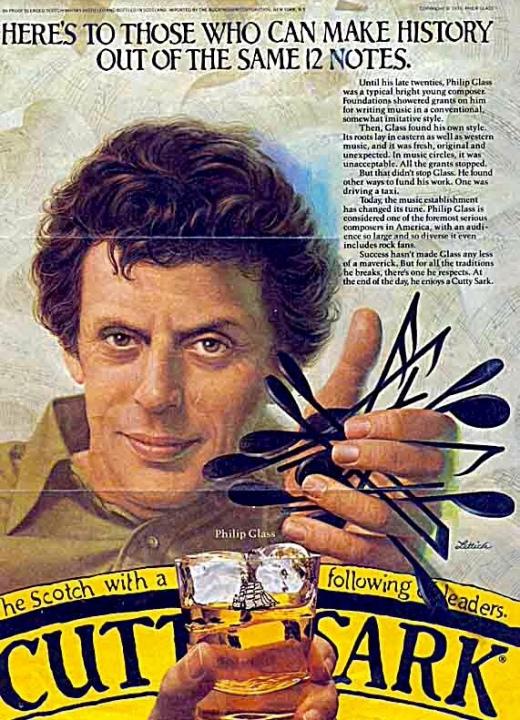 Philip Glass qué galán! Lo mismo te invita un whiskito que te hace una melodía hipnótica con un gamelán!